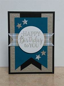 Masculine Birthday Card-Blue   cards   Pinterest ...