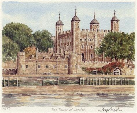tower  london art print  glyn martin worldgallerycouk