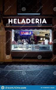 Ice Cream Shop Window At Night Editorial Stock Photo - Image of gelati, time: 141890703