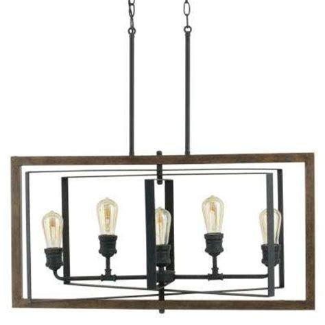 Hampton Bay Led Ceiling Light by Black Chandeliers Hanging Lights The Home Depot