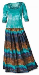 Turquoise Aztec Knit Top & Crinkle Skirt Set - Southwest