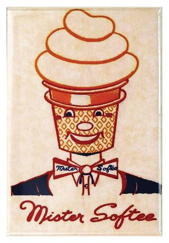 mister softee ice cream fridge magnet vintage