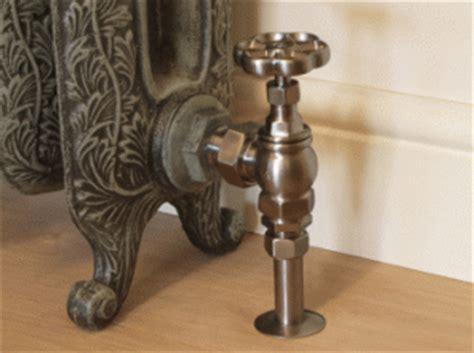 The Victorian Cast Iron Radiator Valve Satin Nickel