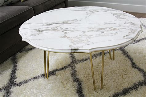 Diy Marble Top Coffee Table Withheart