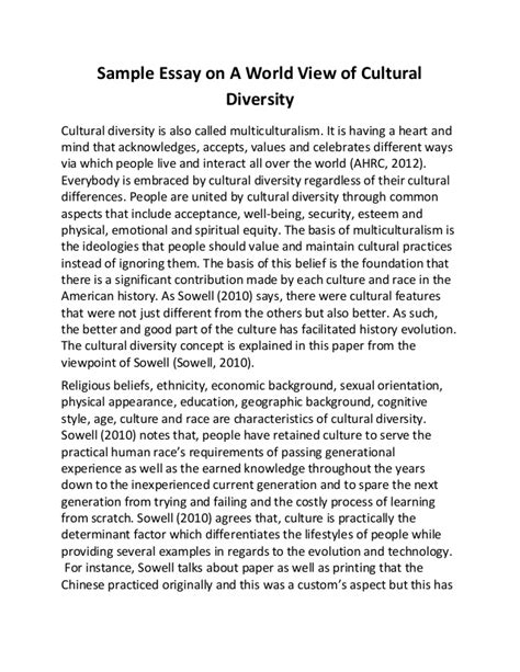 multiculturalism essay sample essay on a world view of cultural diversity