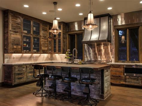 rustic kitchen cabinets and stool enjoy rustic kitchen
