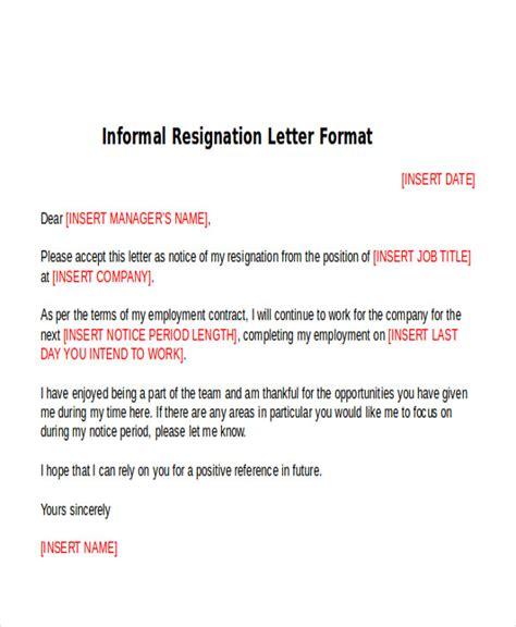 general resume 187 casual resignation letter cover letter