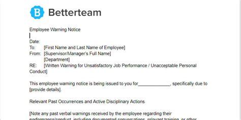 employee warning notice wordpdf