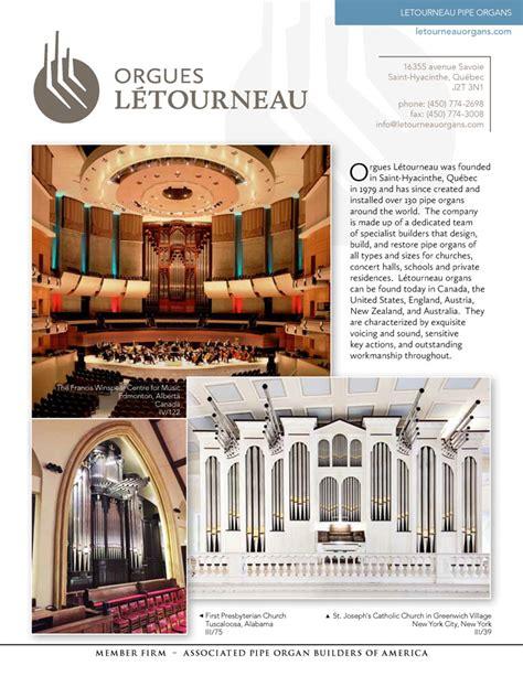Létourneau Pipe Organs Associated Pipe Organ Builders Of