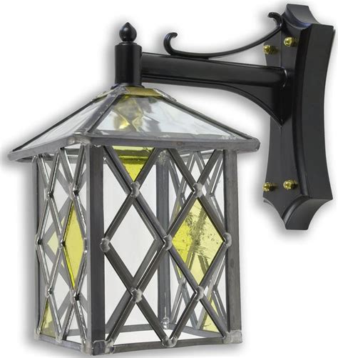 marlow leaded stained glass outdoor wall lantern