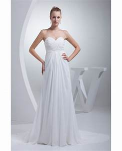 elegant sweetheart chiffon long beach wedding dress With long beach wedding dress