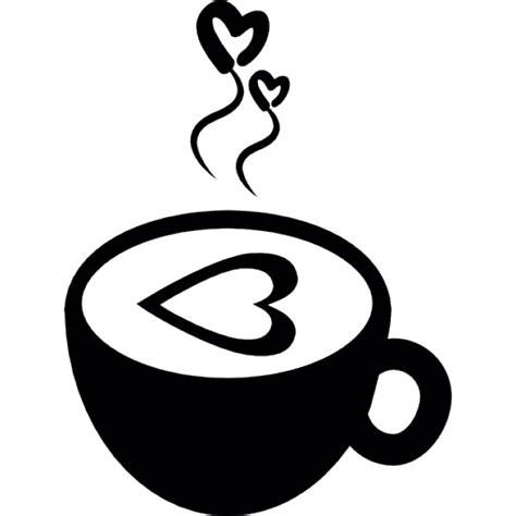 Xícara de café quente com corações do amor   Download Ícones gratuitos