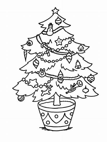 Christmas Coloring Tree Sheets Clip Sheet Cool