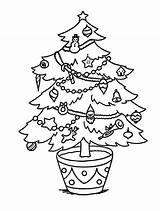 Tree Coloring Sheets Holidays Happy Sheet Clip sketch template