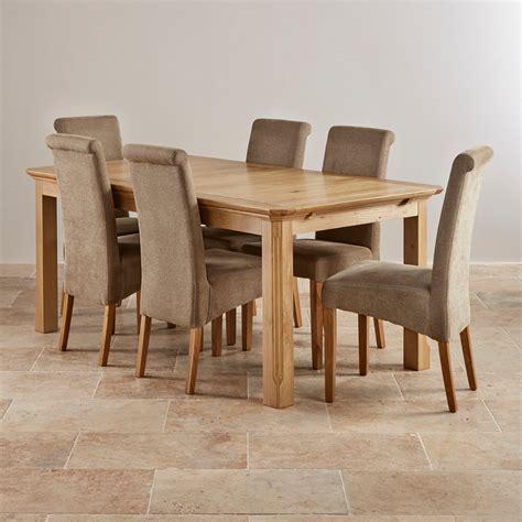 oak dining table chairs edinburgh natural solid oak dining set 6ft extending