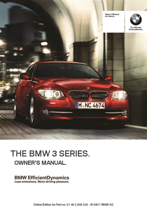 bmw  series coupe conv idrive owners manual
