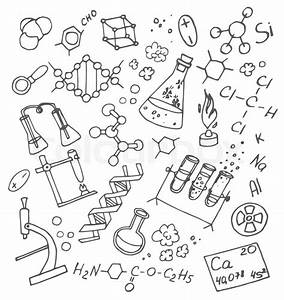 Hand Drawn Doodle Vektor Chemistry  Science Background