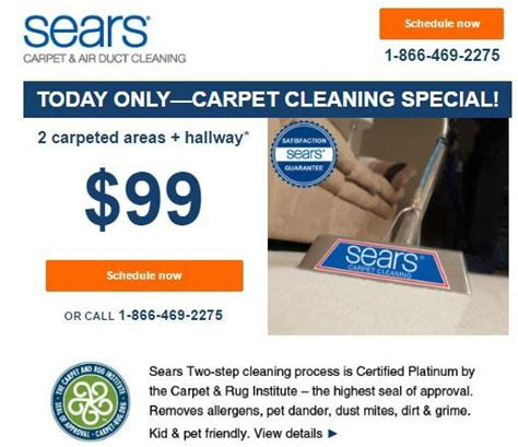 Sears Upholstery Cleaning Coupons by Today Only Sears Carpet Cleaning Special Only 99