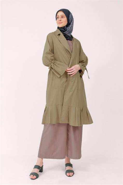 model outer hijab panjang  lengan kimono