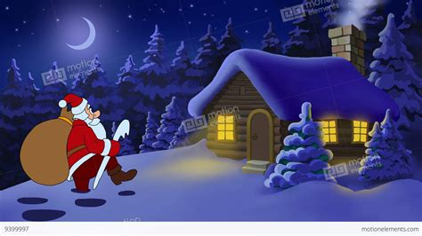 Santa Claus Animated Wallpaper - and new year animated card with santa claus