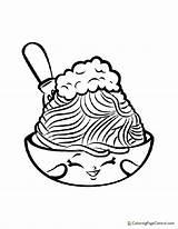 Spaghetti Coloring Shopkin Netti sketch template