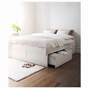 Ikea Lit 140x200 : brimnes cadre lit avec rangement blanc 160x200 cm ikea ~ Teatrodelosmanantiales.com Idées de Décoration
