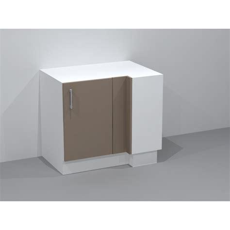 meuble de cuisine angle bas meuble bas d 39 angle avec 2 étagères ouvrant droit
