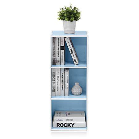 Light Blue Bookcase by Furinno 11003 3 Tier Open Shelf Bookcase White Light Blue