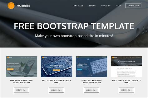 bootstrap mobile template free bootstrap template for mobile friendly websites