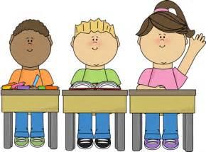 Students at School Clip Art