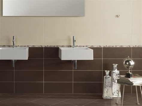 carrelage salle de bain marron et beige