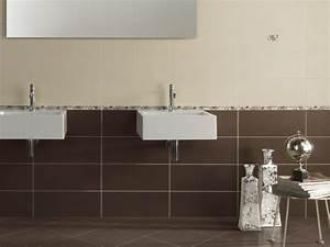 carrelage salle de bain marron et beige With carrelage marron salle de bain