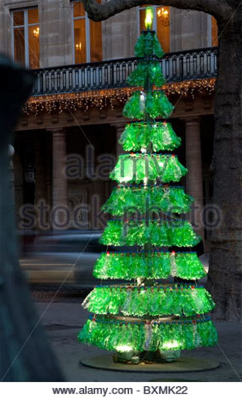 recycle christmas trees near me tree made from recycled plastic bottles in arequipa city stock photo 66315223 alamy