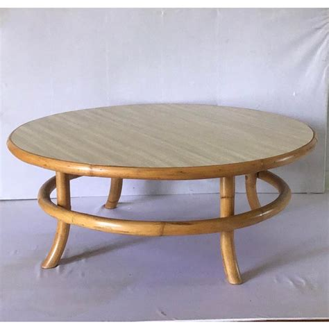 See the detailed photo here. Vintage Mid Century Rattan Bamboo Bentwood Coffee Table ...