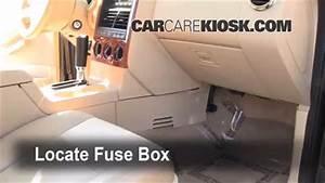 Interior Fuse Box Location  2006-2010 Ford Explorer