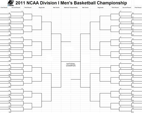 bracket challenge template is my soul ncaa s 2011 s basketball chionship tournament bracket