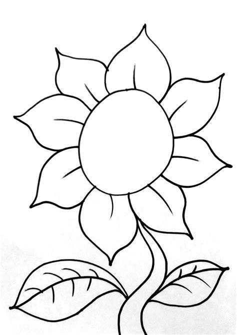 sketsa gambar kolase bunga matahari