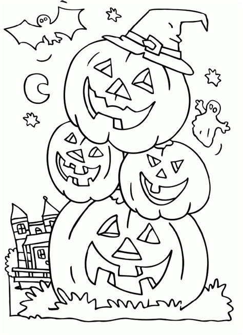 spooky halloween coloring pages coloring home