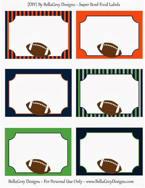 bellagrey designs super bowl fun  printable