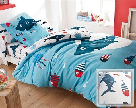 linge de lit enfant fonds marins becquet