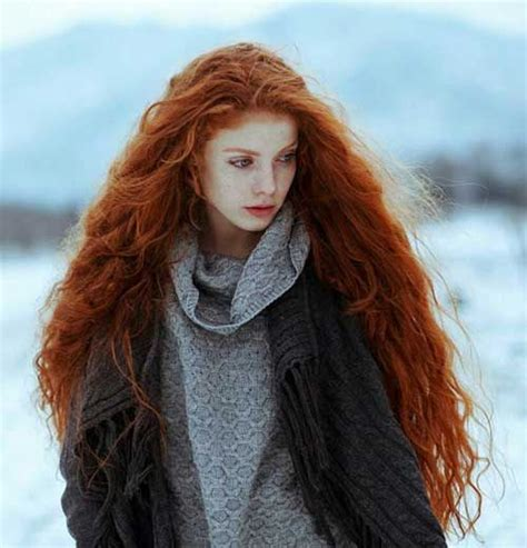 long curly red hair beauty red hair long hair styles