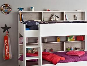 Hochbett Mit Zwei Betten : etagenbett hochbett tomke 208x164x132cm wei grau f r jungen m dchen wohnbereiche schlafzimmer ~ Whattoseeinmadrid.com Haus und Dekorationen