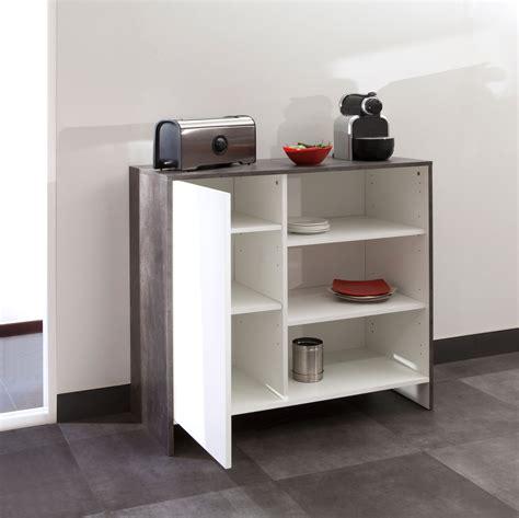 meubles cuisine bas meuble bas de cuisine en bois 1 porte 3 niches edgar