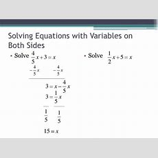 Solving Equations With Variables On Both Sides & Translating Words In…