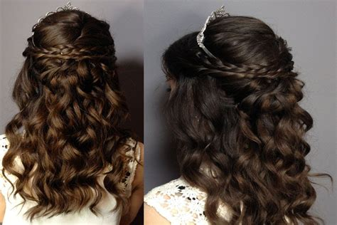 Sweet 16 Hairstyles For Hair by Prom Sweet Sixteen Hair Tutorial Half Up Half Curly