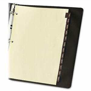 Avery 11328 monthly reinforced red leather tab dividers 12 for Avery 3 tab dividers