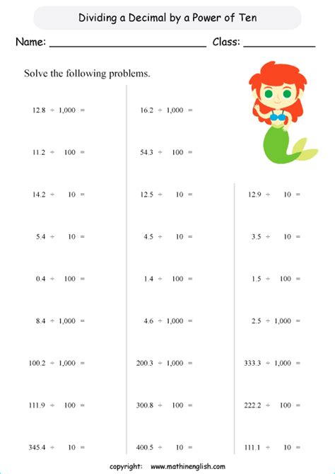 Decimal Division Worksheets  Division Math Problems 5th Grade Thimothy Worksheetdecimal Divided