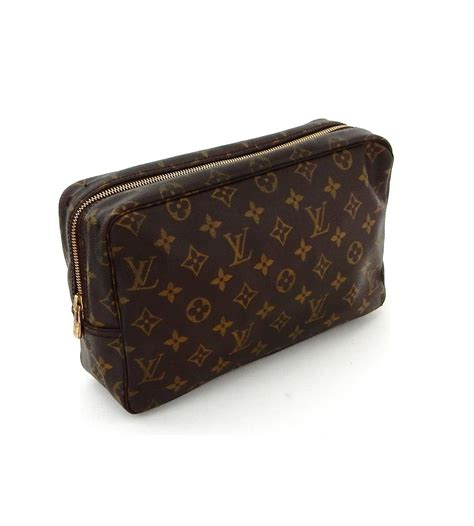 louis vuitton brown trousse vintage toilette  monogram