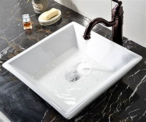 Modern Above Counter Bathroom Sinks by Vessel Sinks White Square Above Counter Porcelain Ceramic