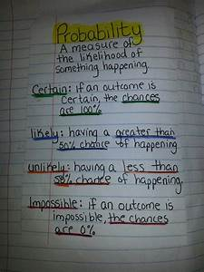 Probability Vocabulary Probability Math Fourth Grade
